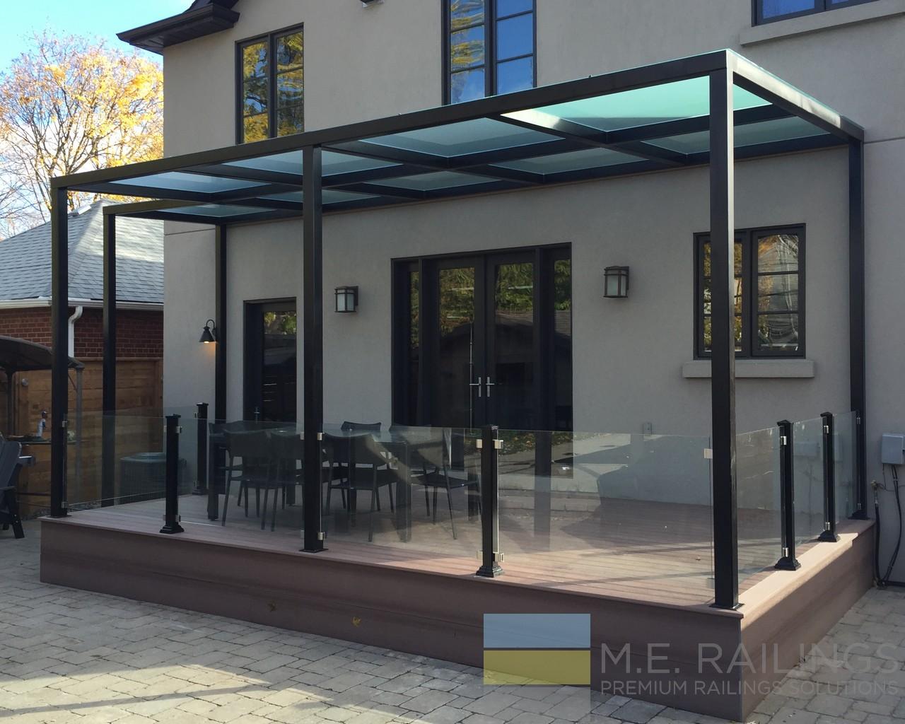 Aluminium Glass Railings With Pergola Toronto Railings Provides Exterior Interior And