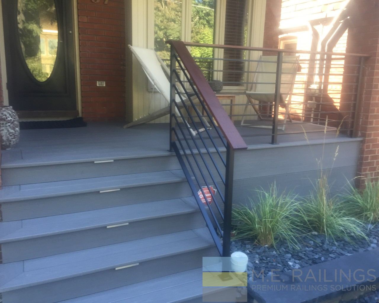 Wrought Iron Railings With Ipe Rails Toronto Railings Provides Exterior Interior And Stairway